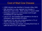 cost of mad cow disease