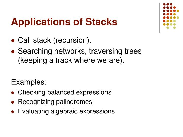 Applications of Stacks