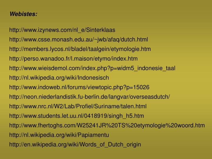 Webistes: