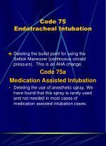 code 75 endotracheal intubation