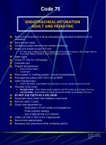endotracheal intubation adult and pediatric