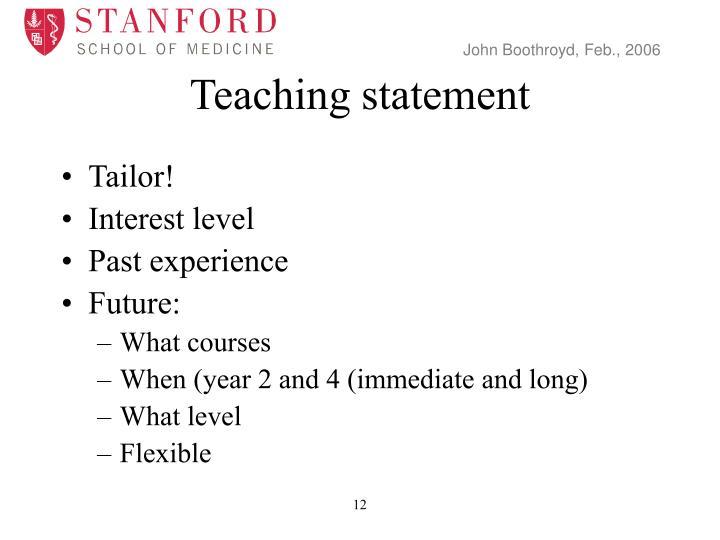 Teaching statement