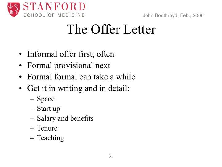 The Offer Letter