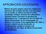 aprobaci n diocesana