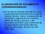 elaboraci n de documentos congregacionales