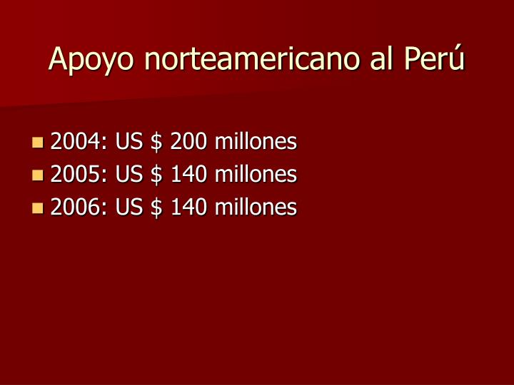 Apoyo norteamericano al Perú