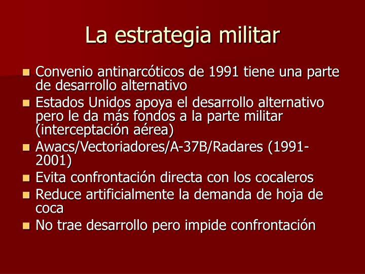 La estrategia militar