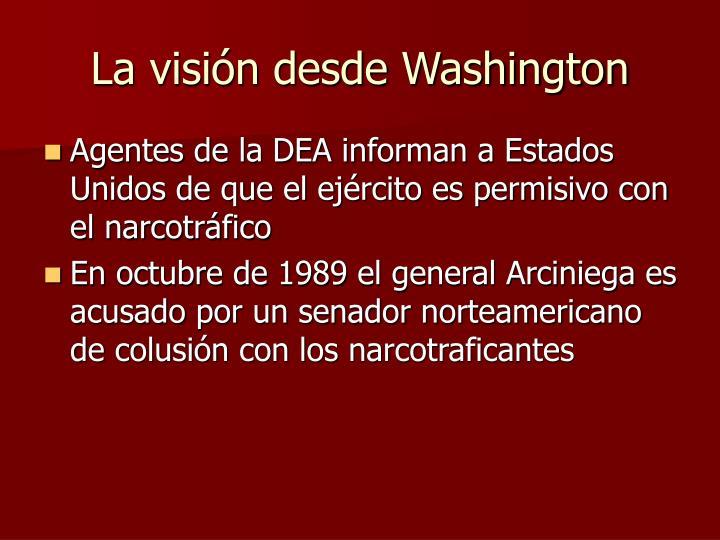 La visión desde Washington