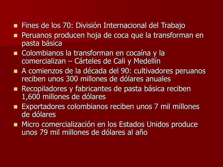 Fines de los 70: División Internacional del Trabajo