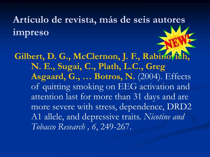 Artículo de revista, más de seis autores