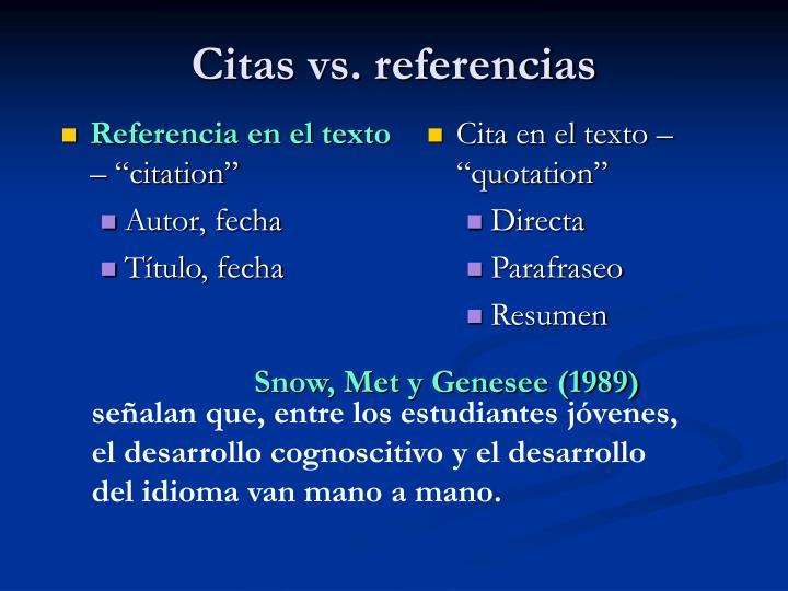"""Cita en el texto – """"quotation"""""""