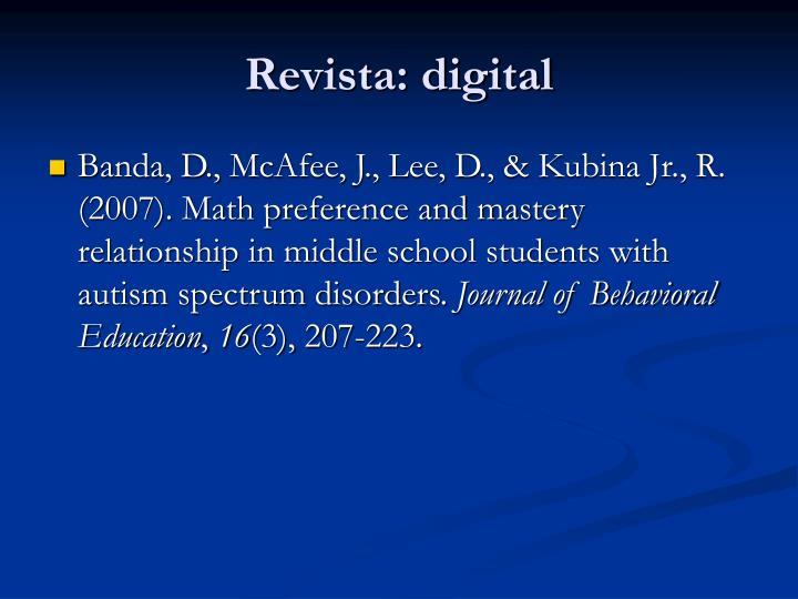 Revista: digital