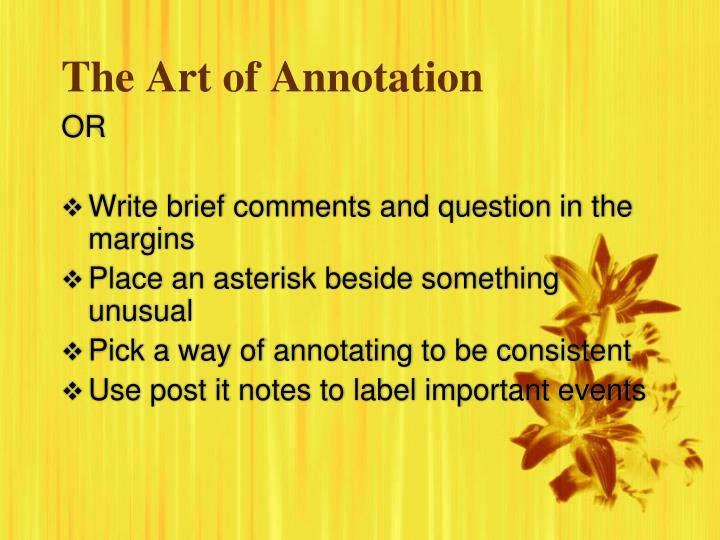 The art of annotation2