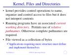 kernel files and directories