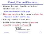 kernel files and directories1