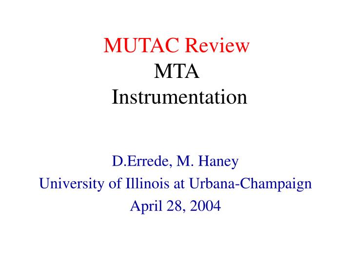 MUTAC Review