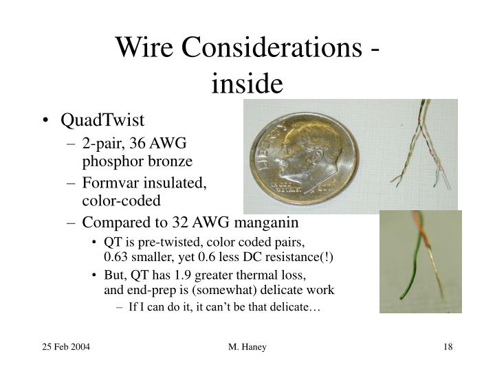 Wire Considerations -