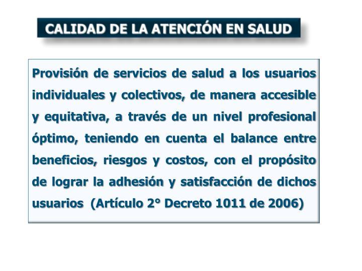 CALIDAD DE LA ATENCIÓN EN SALUD