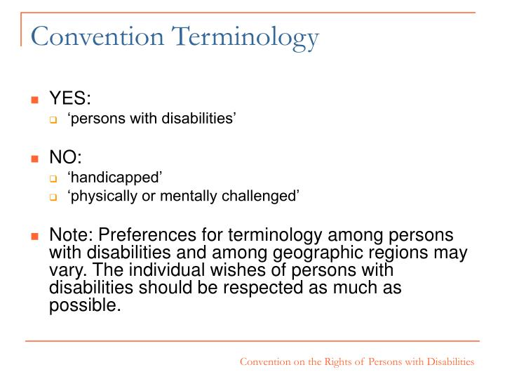 Convention Terminology