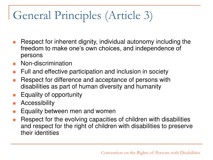 General Principles (Article 3)