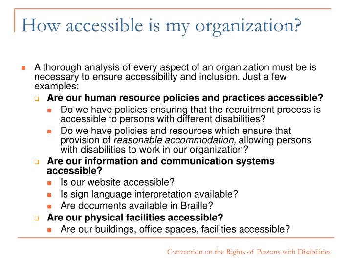 How accessible is my organization?