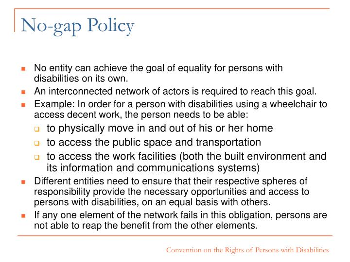 No-gap Policy