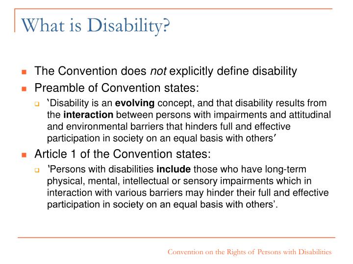 What is Disability?