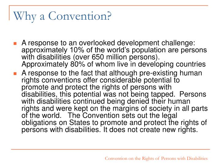 Why a Convention?