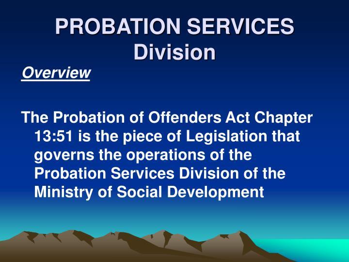Probation services division