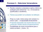processo 4 selecionar fornecedores