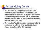 assess going concern