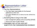 representation letter