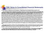 trm notes to consolidated financial statements