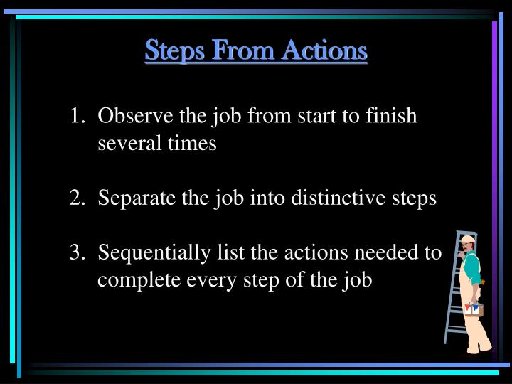 Steps From Actions