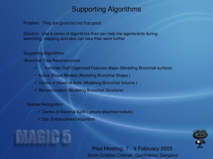 Supporting Algorithms