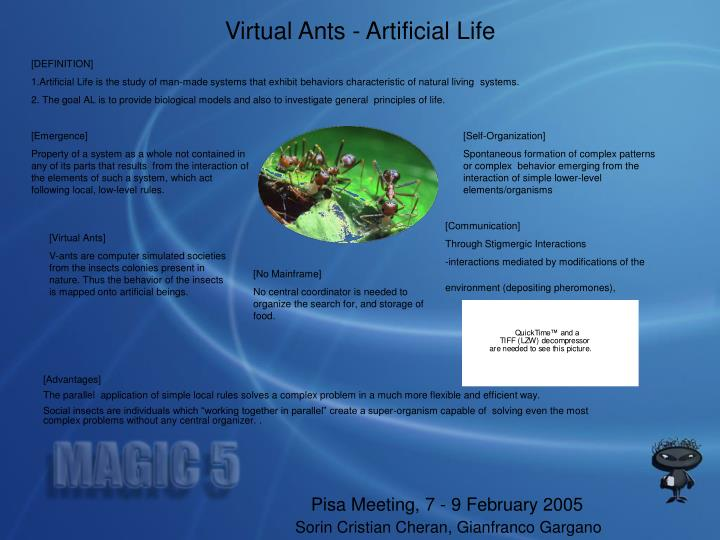 Virtual Ants - Artificial Life
