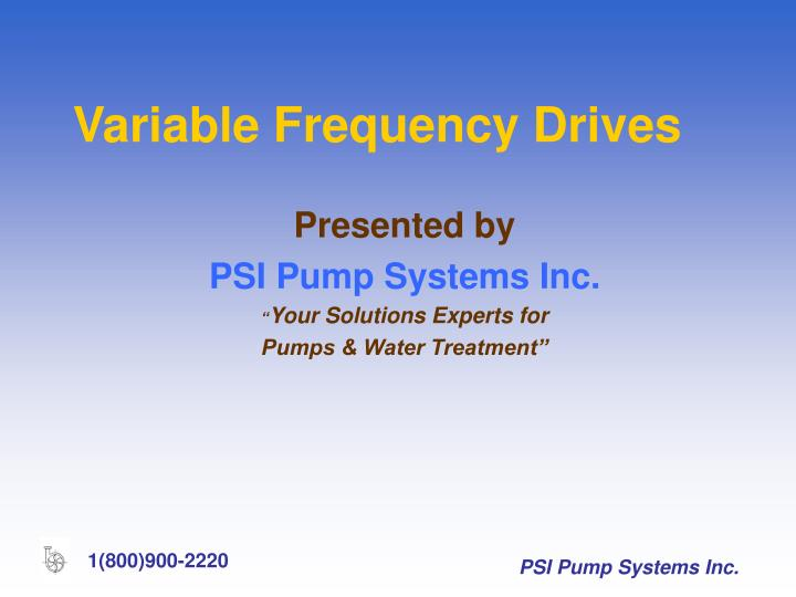 types of variables and frequency The potential for variable frequency drive (vfd) energy saving from slowing down the load depend on the characteristics of the load being driven there are three main types of load: variable torque, constant torque and constant power.