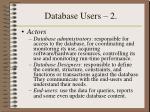 database users 2