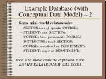 example database with conceptual data model 2