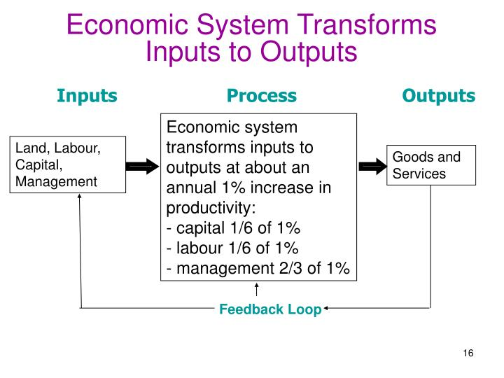 Economic System Transforms Inputs to Outputs