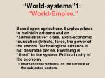 world systems 1 world empire