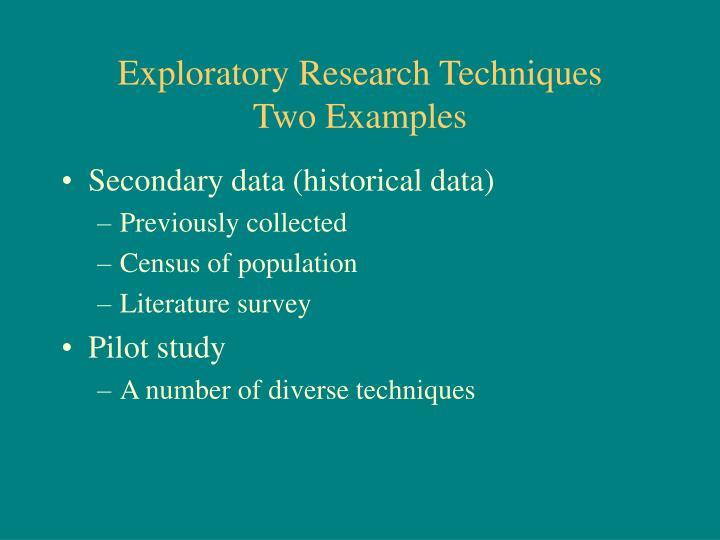 Exploratory Research Techniques