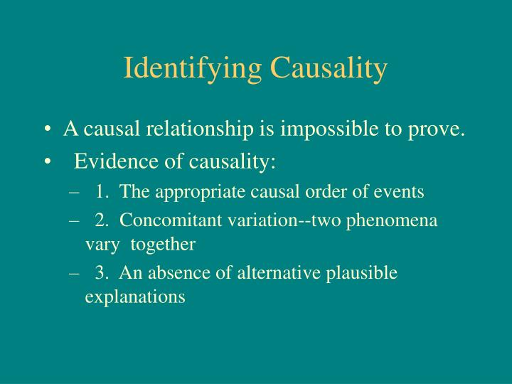 Identifying Causality