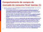comportamento de compra do mercado de consumo final teorias 1