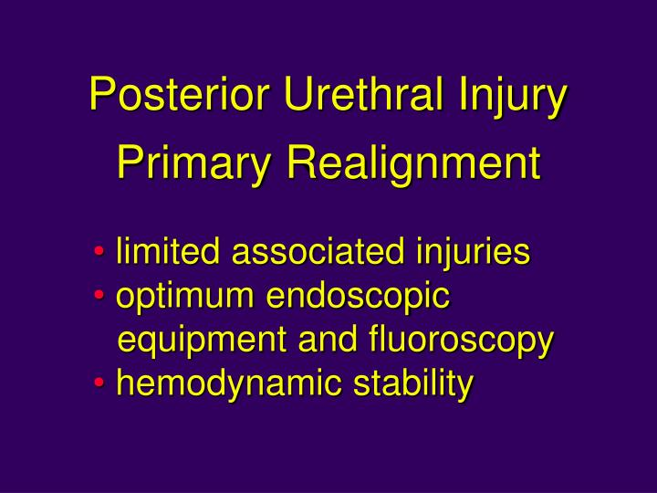 Posterior Urethral Injury