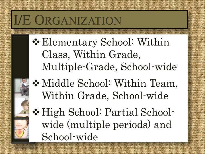 I/E Organization