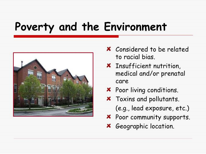 Poverty and the Environment