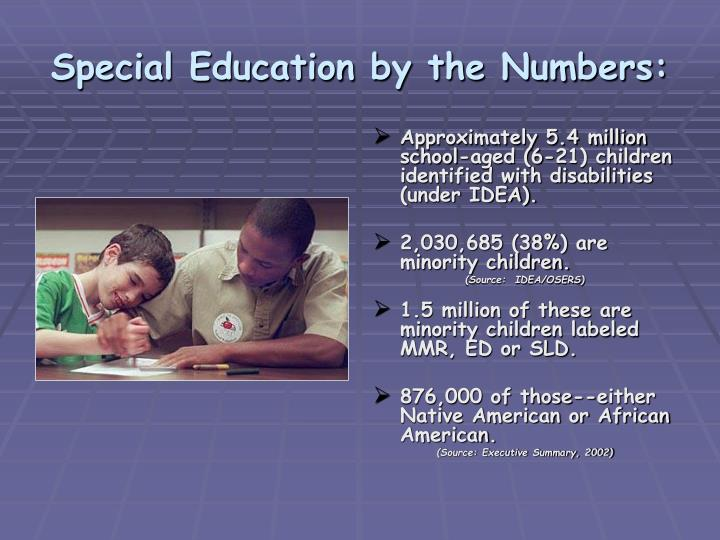 Special Education by the Numbers: