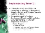 implementing tenet 3