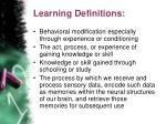 learning definitions